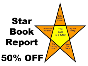 50% off star book report project