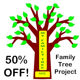 50% off family tree project
