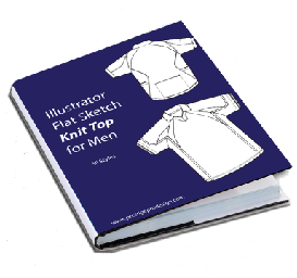 men flat sketches for knit tops. (t-shirt)