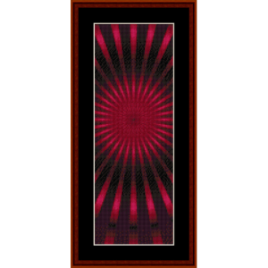 fractal 390 bookmark - cross stitch pattern by cross stitch collectibles