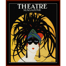 theatre mask - vintage poster cross stitch pattern by cross stitch collectibles