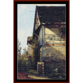 little house in dusseldorf - shishkin cross stitch pattern by cross stitch collectibles