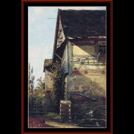 little house in dusseldorf - shishkin cross stitch pattern by cross stitch collectibles