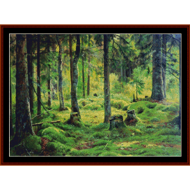 deadwood - shishkin cross stitch pattern by cross stitch collectibles