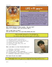 life of pi, whole-movie english (esl) lesson