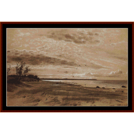 beach, 1889 - shishkin cross stitch pattern by cross stitch collectibles
