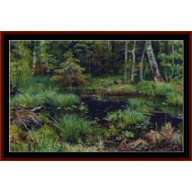 spring in the forest - shishkin cross stitch pattern by cross stitch collectibles
