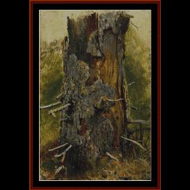 bark on dry trunk - shishkin cross stitch pattern by cross stitch collectibles