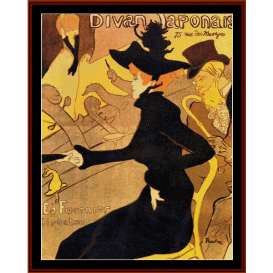 divan japonaise - lautrec cross stitch pattern by cross stitch collectibles