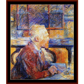 portrait of vincent van gogh - lautrec cross stitch pattern by cross stitch collectibles