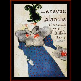 la revue blanche - lautrec cross stitch pattern by cross stitch collectibles