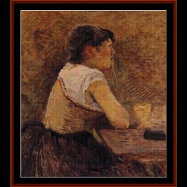 absinthe drinker - lautrec cross stitch pattern by cross stitch collectibles