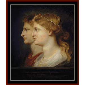 agrippa and germanicus - rubens cross stitch pattern by cross stitch collectibles