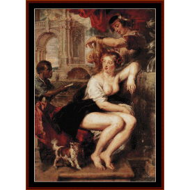 bathsheba at the fountain - rubens cross stitch pattern by cross stitch collectibles