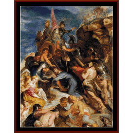 carrying the cross - rubens cross stitch pattern by cross stitch collectibles