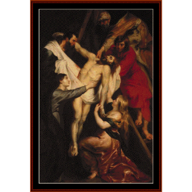 descent from the cross - rubens cross stitch pattern by cross stitch collectibles