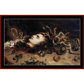 head of medusa - rubens cross stitch pattern by cross stitch collectibles