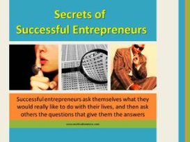 secret of successful entrepreneurs