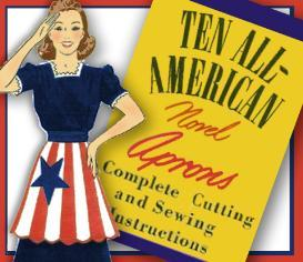 sew a patriotic retro apron ~1940's pattern