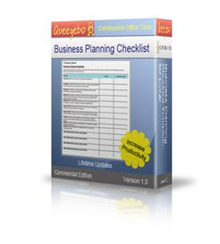 Business Planning Checklist in Excel | Software | Software Templates