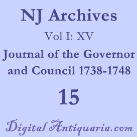 NJ Archives (I:XV) Journal of the Governor and Council 1738-1748 | eBooks | History