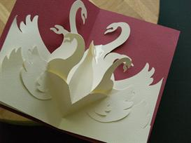 12 gifts -swans-easycutpopup