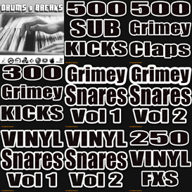 grimey drums pack hip hop dubstep logic mpc fl studio electro tech vinyl loops