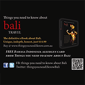 bali - eating with an allergy or intolerance