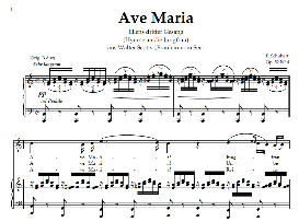 ave maria d.839 (ellens gesang iii), high voice in c major, for soprano, tenor, schubert (in german). digital edition, a4.