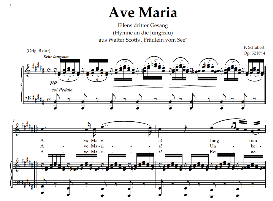ave maria d.839 (ellens gesang iii), high voice in b major, for soprano, tenor, schubert  (in german). digital edition, a4.