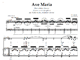 ave maria d.839 (ellens gesang iii),  medium voice in a major. for baritone, mezzo. schubert (in german). digital edition, a4