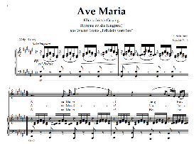 ave maria d.839 (ellens gesang iii), low voice in f sharp major. for contralto/alto.  schubert (in german). digital edition, a4