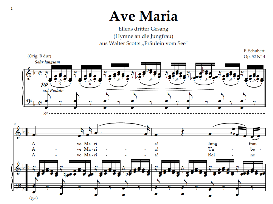 ave maria d.839 (ellens gesang iii), low voice in f major. for contralto/alto. schubert (in german). digital edition.a4