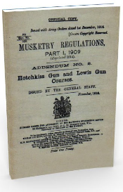 hotchkiss gun and lewis gun course, (1916)