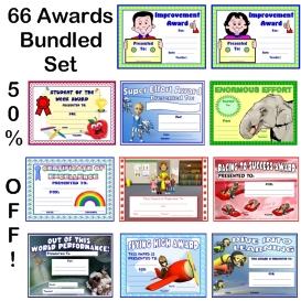 50% off bundled 66 awards set