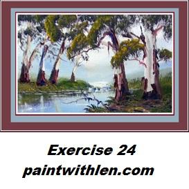 paint gums by a creek 24