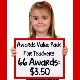 printable award certificates value pack for school teachers