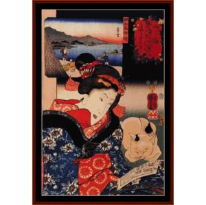 Woman Reading - Asian Art cross stitch pattern by Cross Stitch Collectibles | Crafting | Cross-Stitch | Wall Hangings