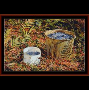 quart pail - americana cross stitch pattern by cross stitch collectibles
