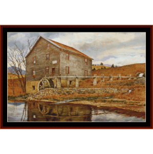 The Mill - Americana cross stitch pattern by Cross Stitch Collectibles | Crafting | Cross-Stitch | Wall Hangings