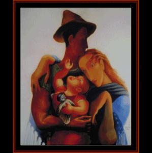 family - almada negreiros cross stitch pattern by cross stitch collectibles