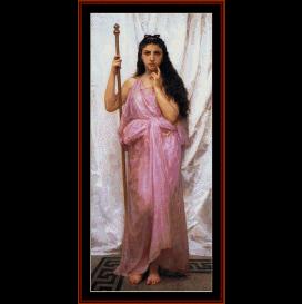 priestess, 1902 - bouguereau cross stitch pattern by cross stitch collectibles