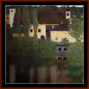 water castle - klimt cross stitch pattern by cross stitch collectibles