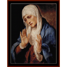 sorrows - titian cross stitch pattern by cross stitch collectibles