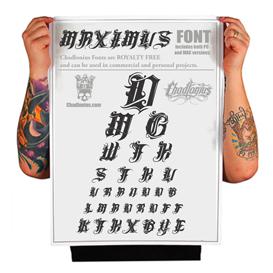 maximus custom  font