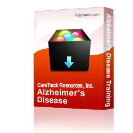 alzheimer's disease training packet