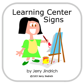 learning center signs single user