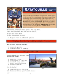ratatouille, whole-movie english (esl) lesson