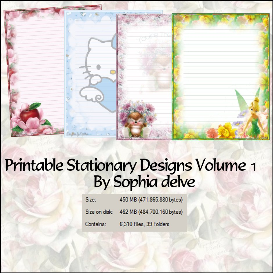 printable stationary designs vol 1 made by sophia delve