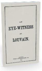 an eye-witness at louvain